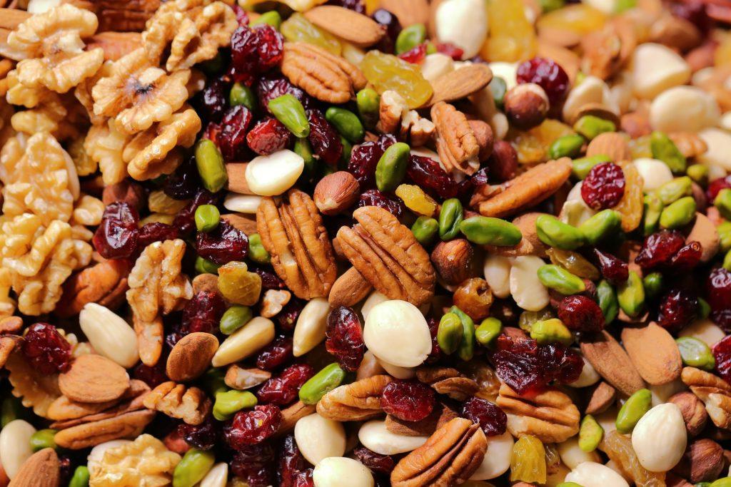 Les noix et graines ont une teneur en sucre très faible